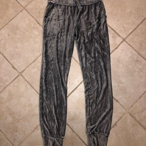 Soft velvet sweatpants